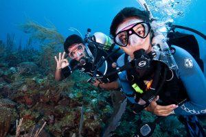 Scuba diving can impact dental health